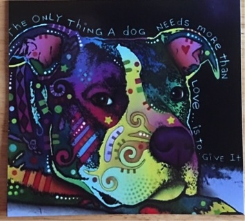 """A DOG KNOWS HOW TO LOVE - 3 x 4"""" MAGNET"""