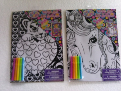 Free: 2 Lisa Frank Velvet Art with Mini Markers Horse and Tiger ...