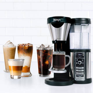 TV and Coffee Bar with Auto IQ and Thermal Carafe - 4 Brew Types