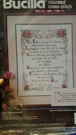 The Lord's prayer counted cross-stitch kit