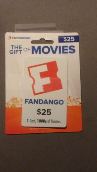 Fandango $25.00 Gift Card