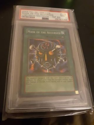 Yugioh- mask of accursed PSA 9 1st edition (mint) super rare