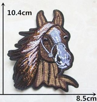 NEW IRON ON PATCH MAJESTIC HORSE Applique embroidered FREE SHIPPING