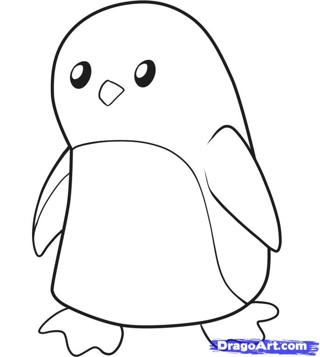 So Adorable Penguin Drawing