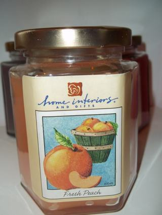 Free: HOME INTERIORS AND GIFTS FRESH PEACH JAR CANDLE WITH ...