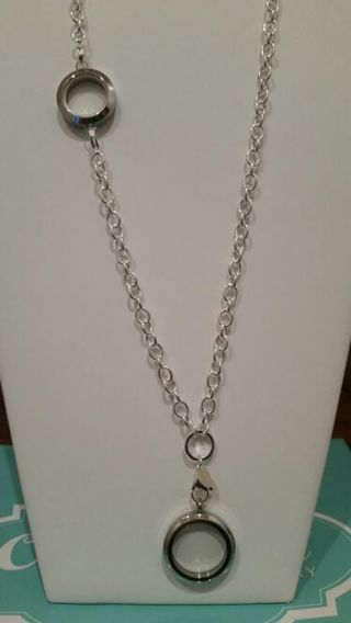 Free Origami Owl Silver Over The Heart Chain With Link Locket And