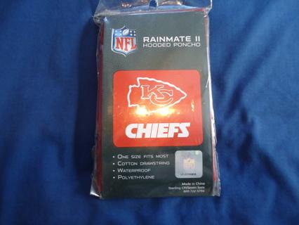 Free Kansas City Chiefs Rainmate Ii Hooded Poncho Football