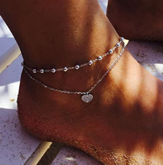 UINKE Double Layer Summer Beach Ankle Bracelet