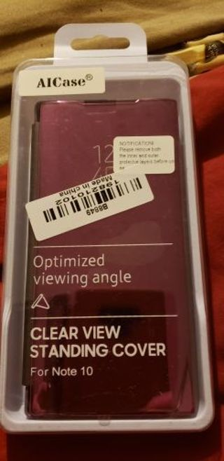 Clear view standing cover for Samsung Note 10