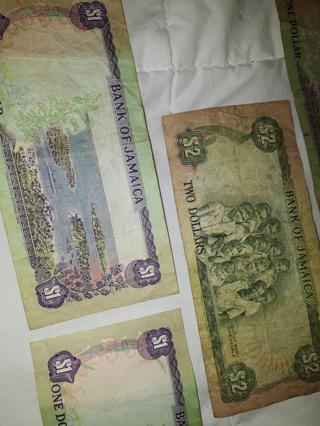 VINTAGE Bank of Jamaica Bills $6 TOTAL