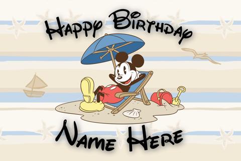 Custom Disney Birthday Card