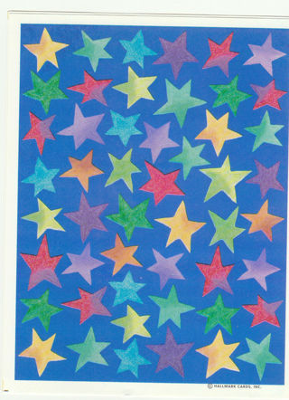 One sheet of Star Stickers