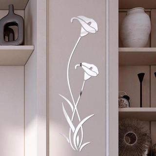 3D Diy Flower Shape Acrylic Wall Sticker Modern Stickers Decoration Living Room Removable Mural Wa