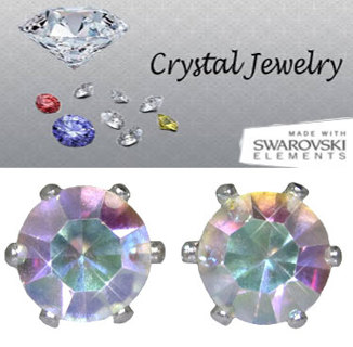 2 CARAT TW SWAROVSKI CRYSTAL STONE STONE EARRINGS Your Color Choice BOXED