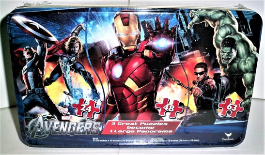 """2011 Marvel Avengers large panoramic 135-piece puzzle by Cardinal Ind. - size 30"""" X 15""""  sealed  NIP"""
