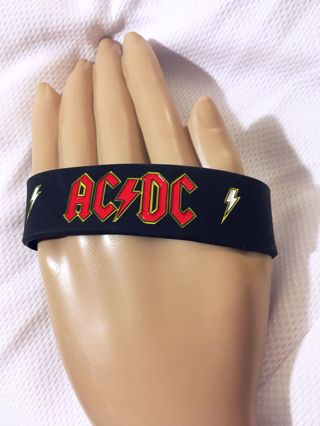 1 AC / DC Rock Band Wristband Bracelet Music Band Fan Jewelry Winner ONE GIN