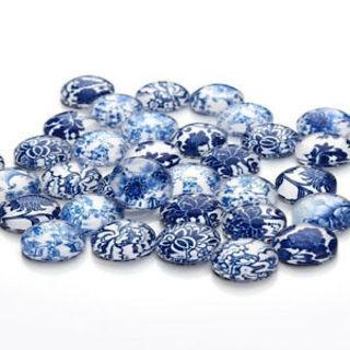 Flatback Photo Embellishment Round Cabochon Dome Mixed Styles Glass Cabochon