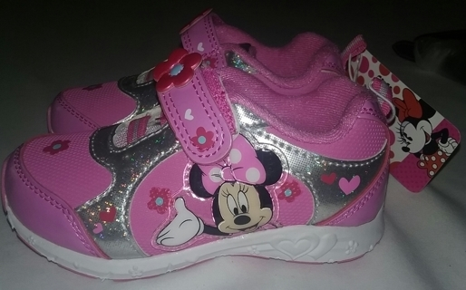 NEW Little Girl's Minnie  Mouse Sneakers Size 10
