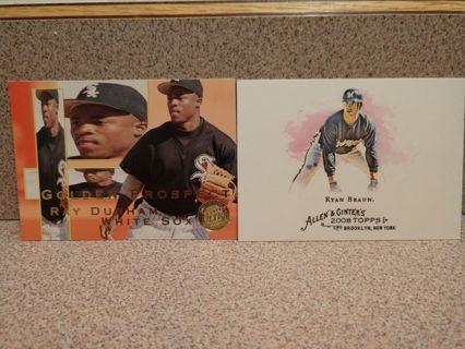 2-cards 1995 FLEER RAY DURHAM GOLDEN PROSPECTS ROOKIE/2008 topps allen ginter ryan braun #180