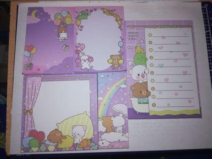 25 kawaii memo sheets