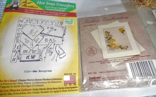 Iron On Transfer and Ribbon Embroidery Kit