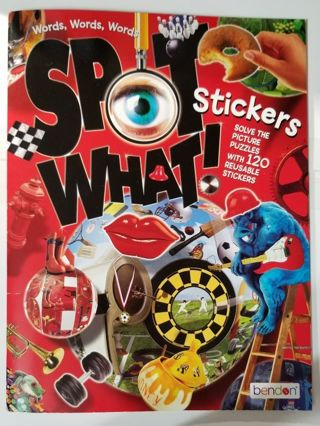 (2) Spot What! Sticker & Puzzle Books
