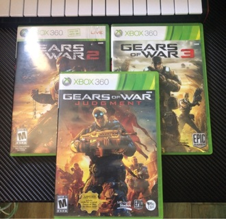 Gears of war 2 , 3 and judgement  Xbox 360