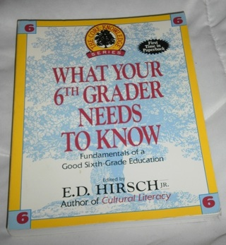 >^_^< What Your 6th Grader Needs to know pb book >^_^<
