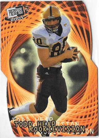 2001 Press Pass SE Rookievision -Todd Heap