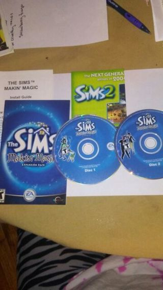 The Sims Making Magic expansion discs