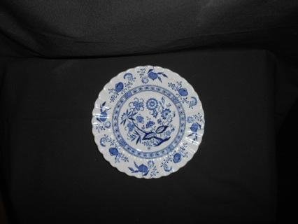 J&G Meakin England Blue Nordic Onion Porcelain Bread Plate