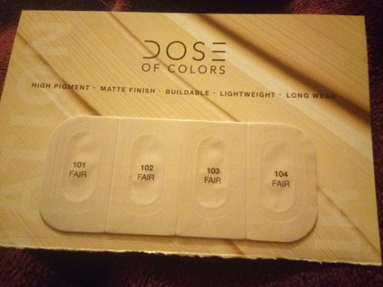 DOSE OF COLORS FOUNDATION SAMPLES
