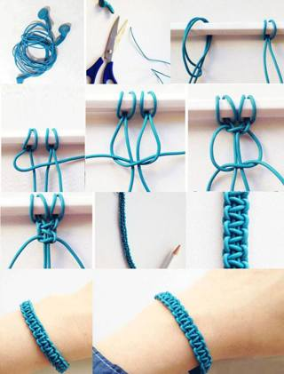 Free Diy How Make A Bracelet With Old Earphones
