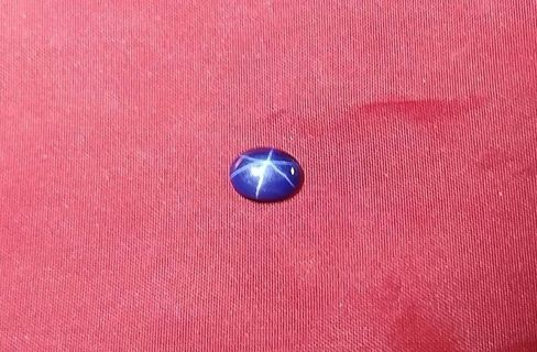 SAPPHIRE SIX POINT BLUE STAR 9X7 MM 1.82 CARATS SUPER FANTASTIC TAKE A LOOK!