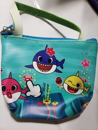 Baby shark coin purse