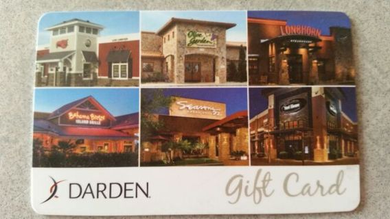 $25 Darden Gift Card~Olive Garden, Red Lobster, Longhorn Steakhouse & More!