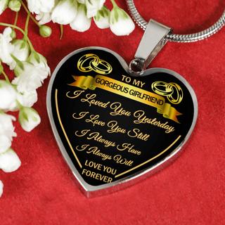free my girlfriend love you husband luxury silver necklace birthday