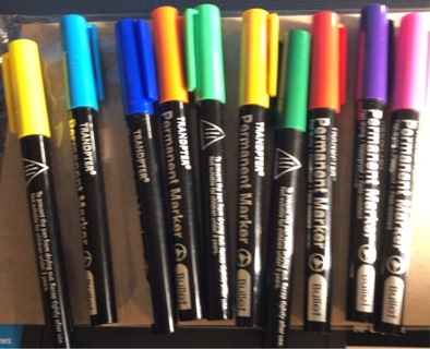 "Brand New: Ten ""Tranopter"" Permanent Markers. One Each Of Ten Vibrant Colors With Bullet Points"