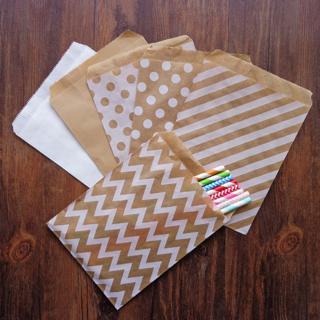 "25PCS 5X7"" Kraft Paper Candy Bag Party Birthday Wedding Favor Gift Popcorn Decor"
