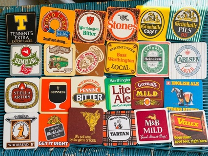 24 Pub Coasters of England and other places