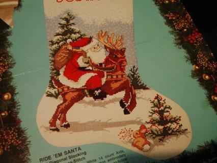 cross stitch christmas stocking pattern