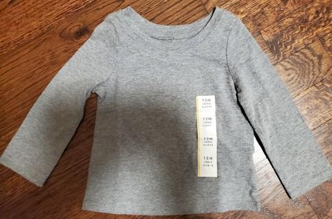 NEW - Cat & Jack - girls long sleeve shirt - size 12 months
