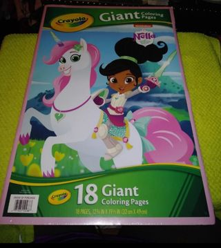 """❤✨❤✨❤️BRAND NEW CRAYOLA """"NELLA THE PRINCESS KNIGHT"""" GIANT COLORING BOOK(18 PAGES)❤✨❤✨❤+GIN BONUSES!"""
