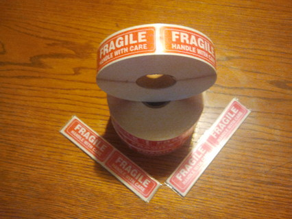 lot of 200  fragile stickers
