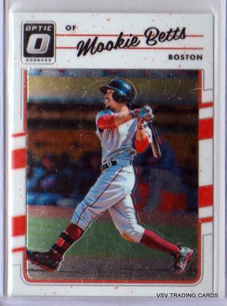 Mookie Betts, 2017 Panini Donruss Optic Card #77, Boston Red Sox