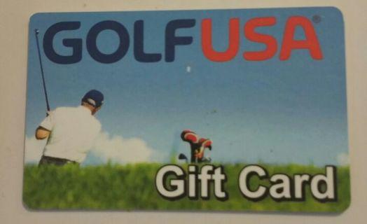 10$ Golf USA gift card