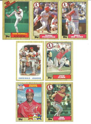 1987 Topps St. Louis Cardinals - 7 Cards