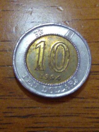 1994 Hong Kong 10 dollars