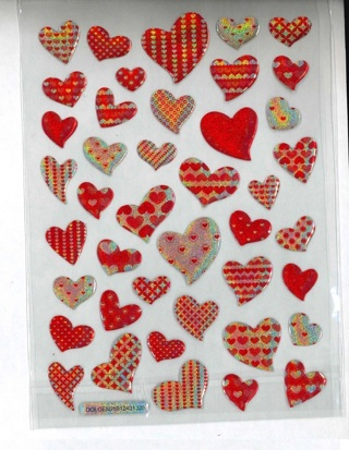 Shiney Epoxy Heart Stickers # 2