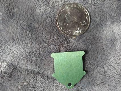 1 green fire hydrant dog tag